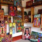 Colorful paintings with african themes