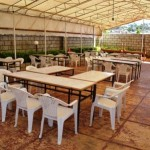 Outdoor tent for parties or conferances